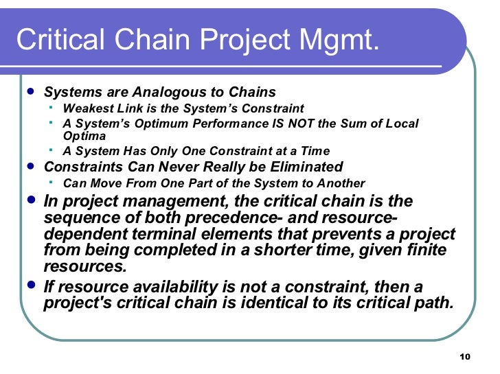 critical chain project management This tutorial is an overview of critical chain project management and learn how it is used in managing a project read more.
