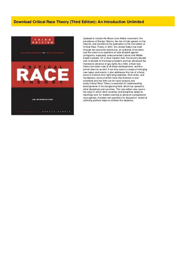 Download Critical Race Theory (Third Edition): An ...