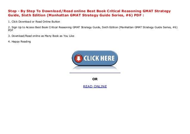 gmat critical reasoning bible pdf download