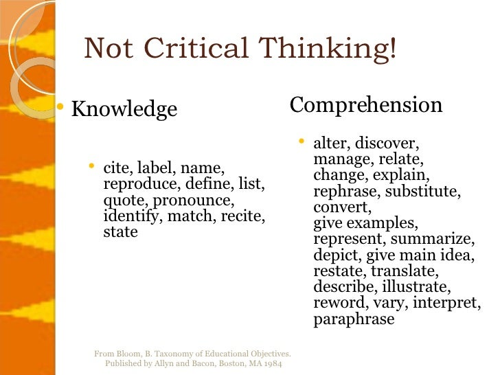 Non critical thinking definition of argument