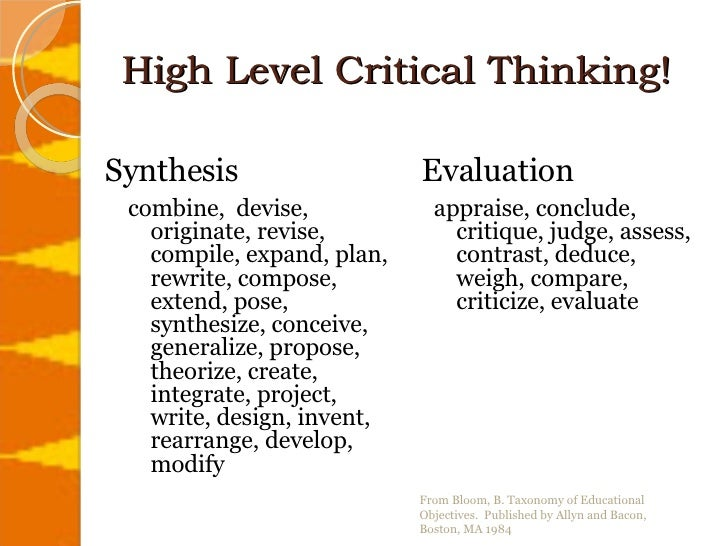 Components of critical thinking ocr revision