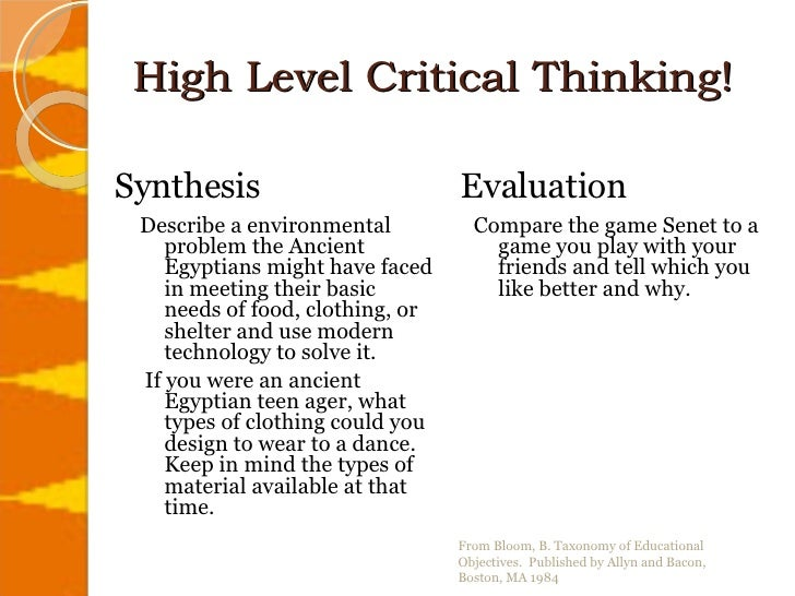 what is critical thinking a level