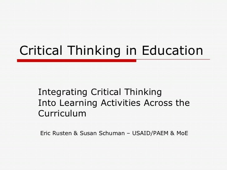 Think About It: Critical Thinking