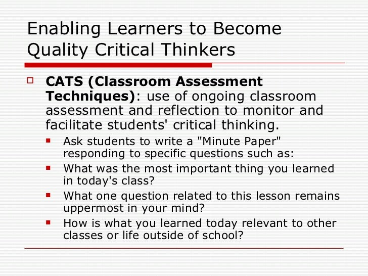 why is critical thinking important for students