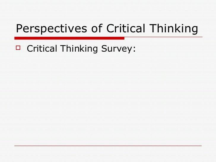 critical thinking presentation on education