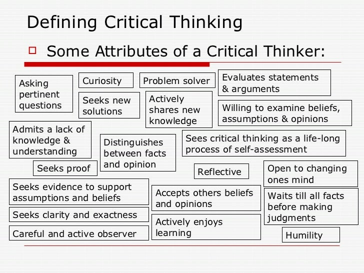 questions for critical thinking Critical thinking includes a complex combination of skills.
