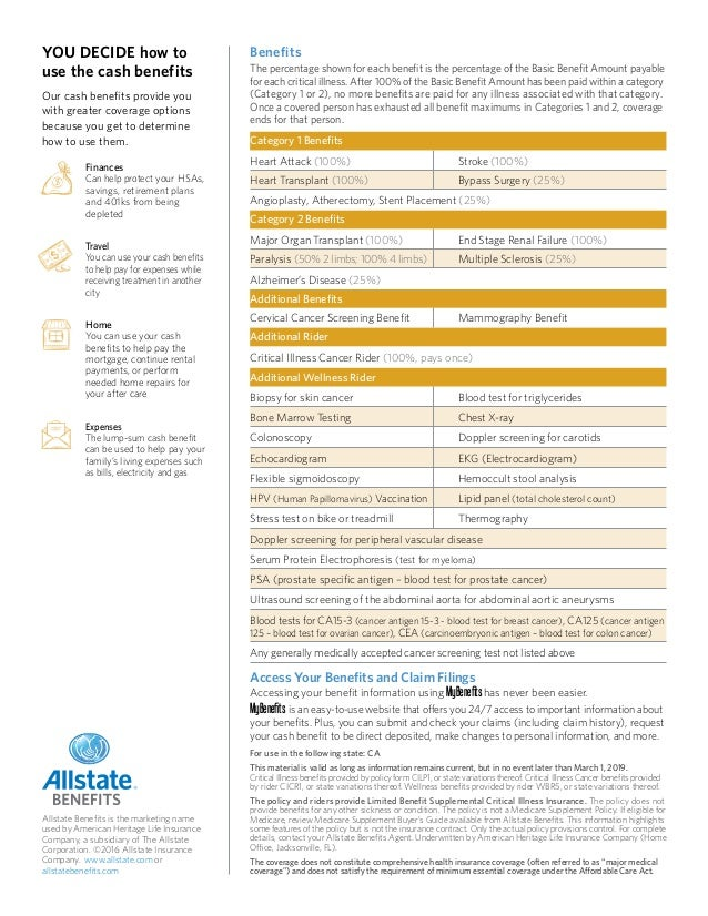Critical Illness Insurance from Allstate Benefits