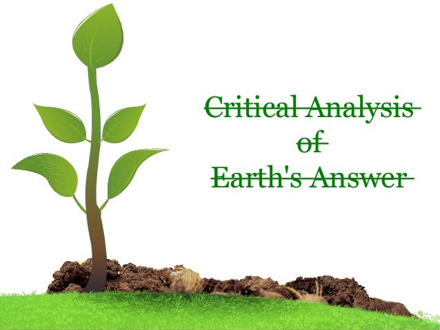 Critical Analysis of Earth's Answer
