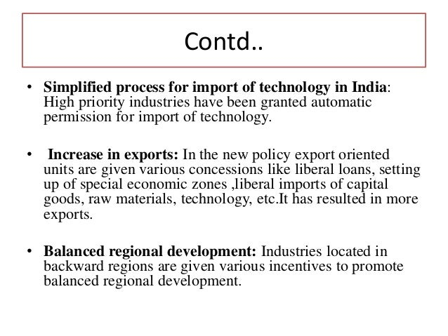 Industrial policy of india critical