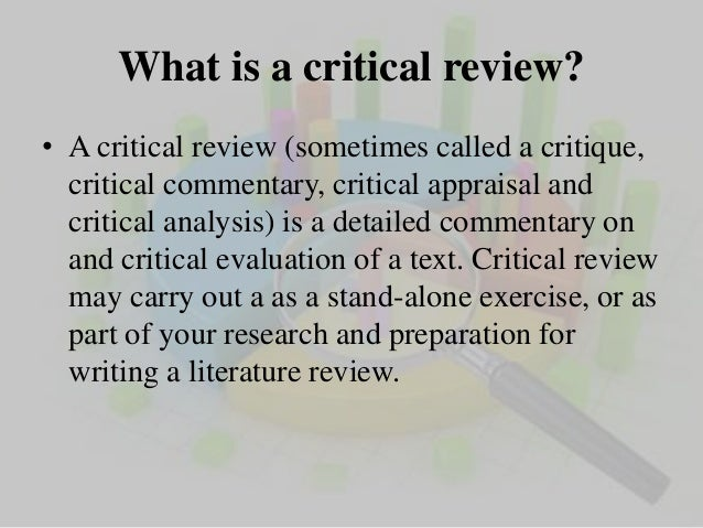 critical analysis of research report what is a critical review
