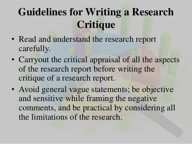 how to write a research critique