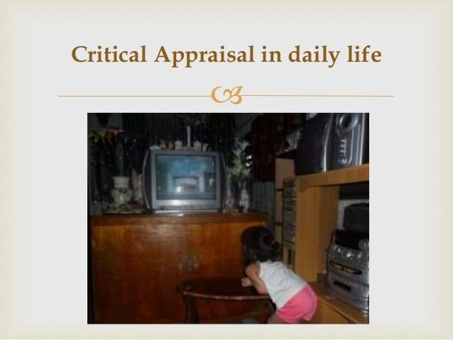 critical apprasial 47 unit eight: principles of critical appraisal learning objectives to understand the components that relate to quality of a quantitative and qualitative.