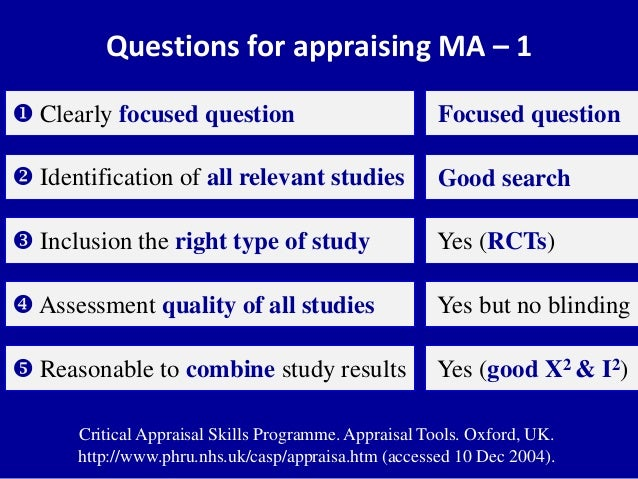 critical appraisal 1 fcmpn 4 | part 1: instructions and definitions introduction this tool kit has been developed for the critical appraisal of scientific literature a guideline.