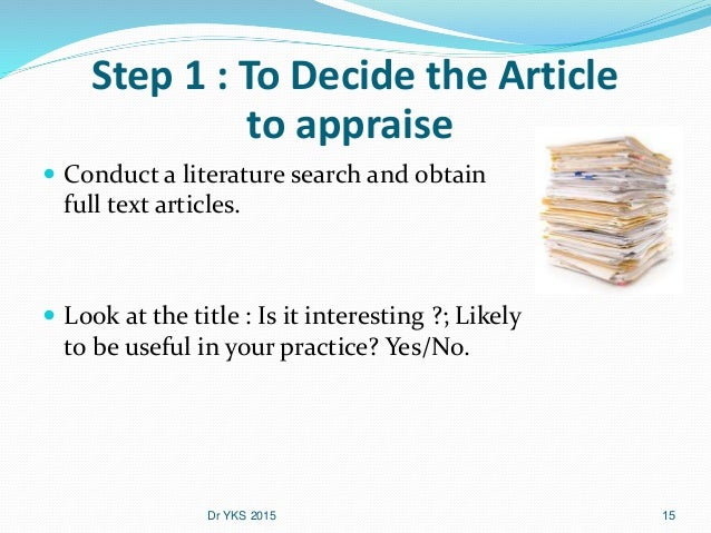 critical analysis of a published article In order to write a critical analysis of an article, you need to take  have any authors written about smith's research since it was published.