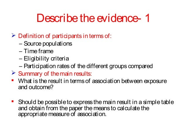 Critical appraisal of medical research papers