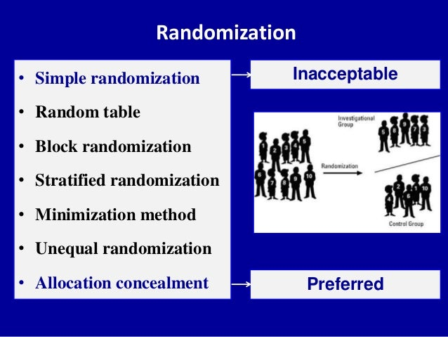 Randomization clinical trials methods