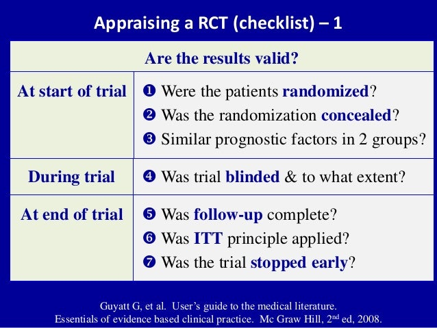 CRITICAL APPRAISAL RCT PDF DOWNLOAD
