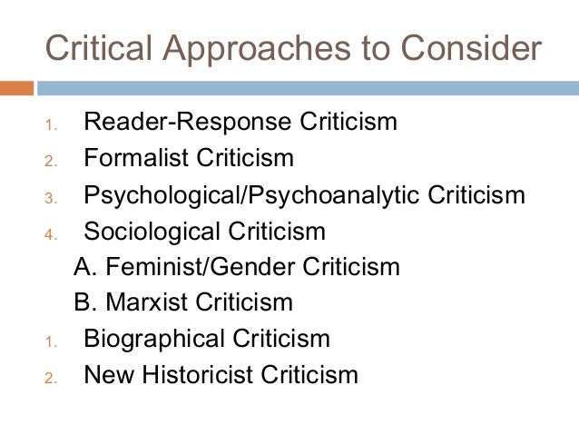 approaches to literary criticism
