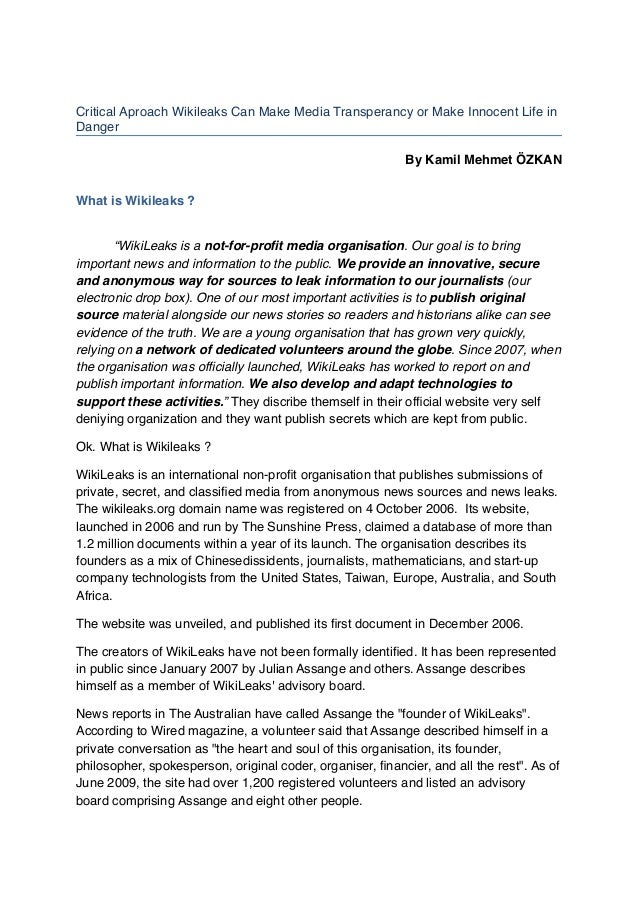 """""""WikiLeaks has sustained and triumphed against legal and political attacks designed to silence our publishing organisation..."""