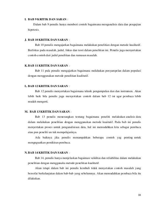Critical Book Report Metodologi Penenlitian