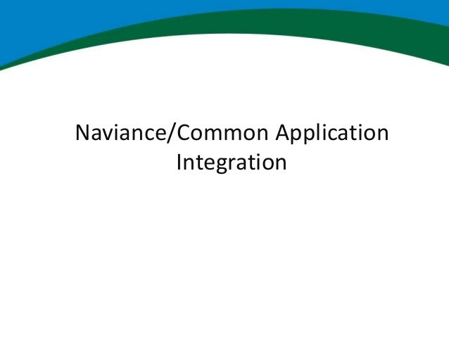 naviance and the common application  partnering for