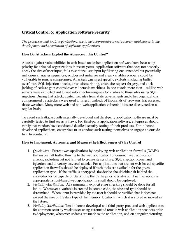 critical security controls for cyber defense The critical security controls (the controls), a recommended set of actions for cyber defense that provide specific and actionable ways to thwart the most pervasive.