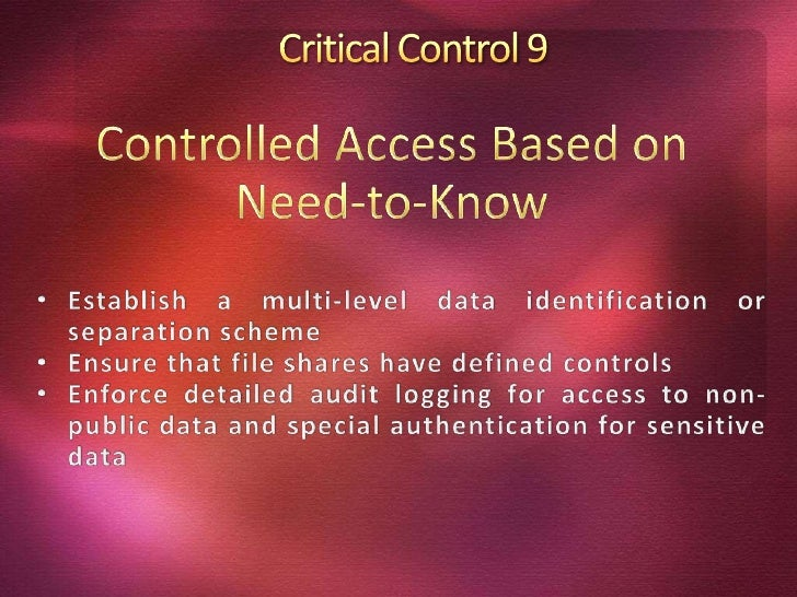 critical security controls for cyber defense The cis critical security controls for effective cyber defense version 60 document is the most important set of actions for cyber hygiene that every organization should implement to protect their information technology (it) networks.