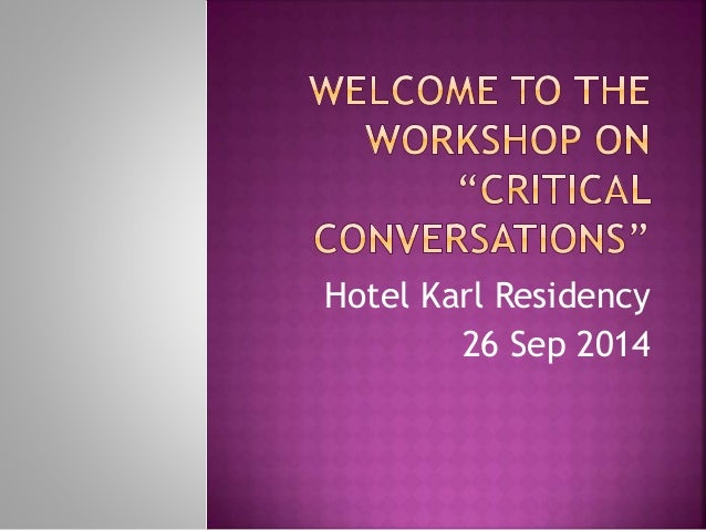 Hotel Karl Residency  26 Sep 2014