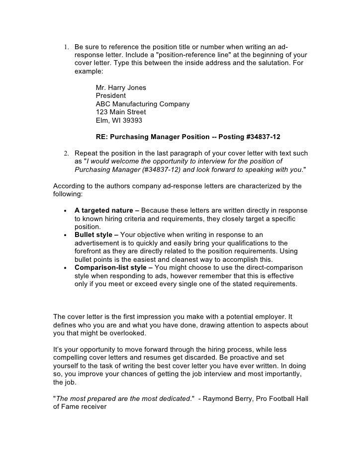 Application Letter Reference Number