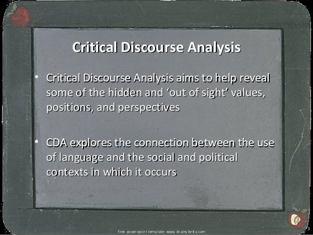 critical discourse analysis notes Discourse analysis is widely for the study of usage of languages in texts and its contextual meaning critical discourse analysis usually abbreviated as cda is the analytical discourse as a research to study the social perpetuation of dominance, p.