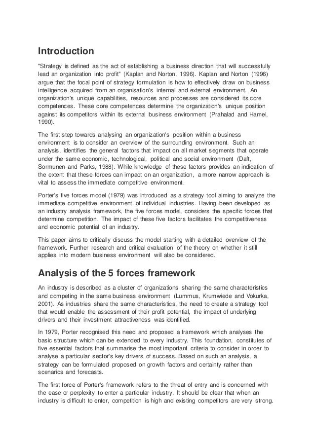 porters generic strategies essay How to write an essay  the article focuses on the main aspects of porter's  generic strategies  the limitations of porter's generic strategies analysis have  been discussed, and the relationship between these strategies and industry  forces is.