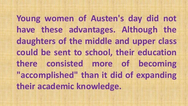 womens role in pride and prejudice