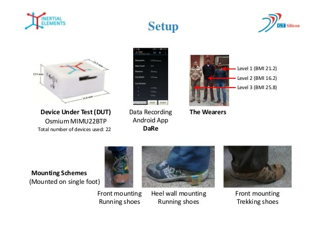 Device Under Test : Long term performance evaluation of a foot mounted