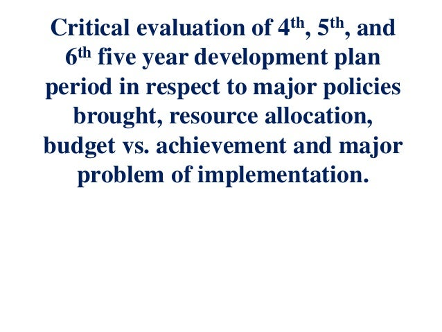 critical evaluation of business plan