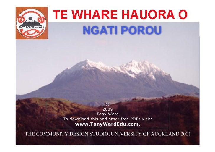 THE WHARE HAUORA O               NGATI POROU                                    ©                               2009      ...