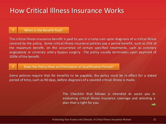 How Critical Illness Insurance Works 15 Protecting Your Assets and Lifestyle: A Critical Illness Insurance Review When Is ...