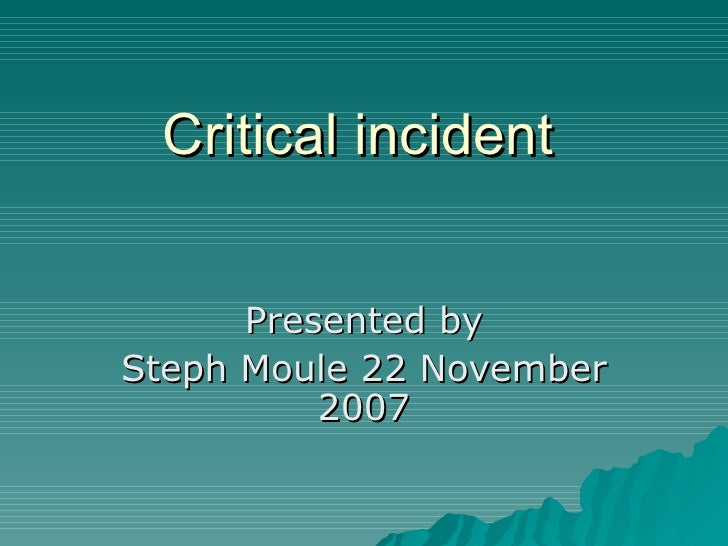 critical incident analysis nursing essays