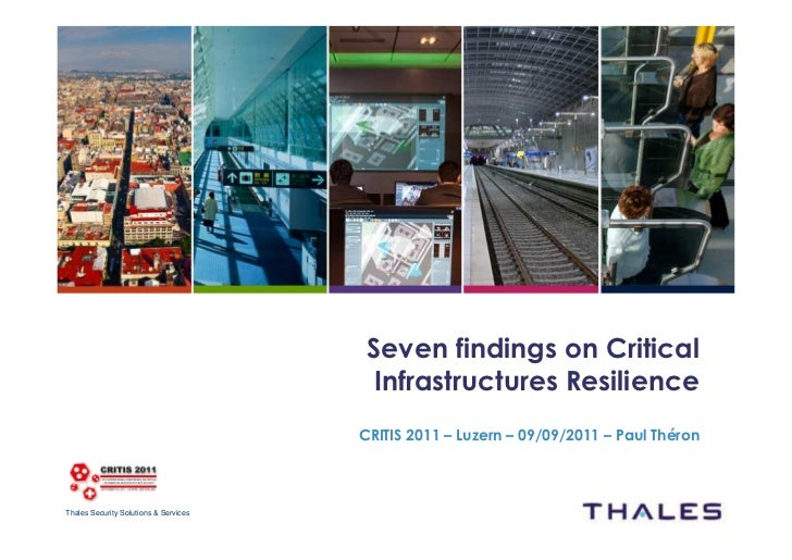 Seven findings on Critical                                        Infrastructures Resilience                              ...