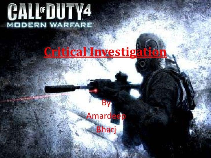 Critical Investigation <br />By <br />Amardeep<br />Bharj<br />