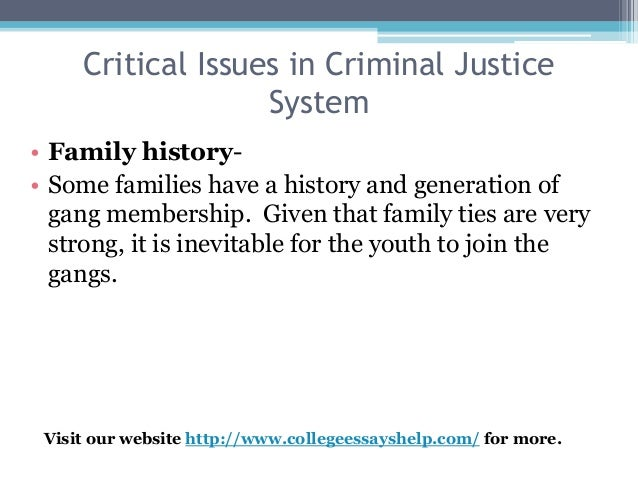 budgeting issues in criminal justice systems essay Studentshare database best place to find  we use several systems and tools to check papers for plagiarism and we run them all over  issues or difficulties.