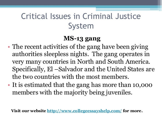 critical issues in criminal justice system 3 critical issues in criminal justice system