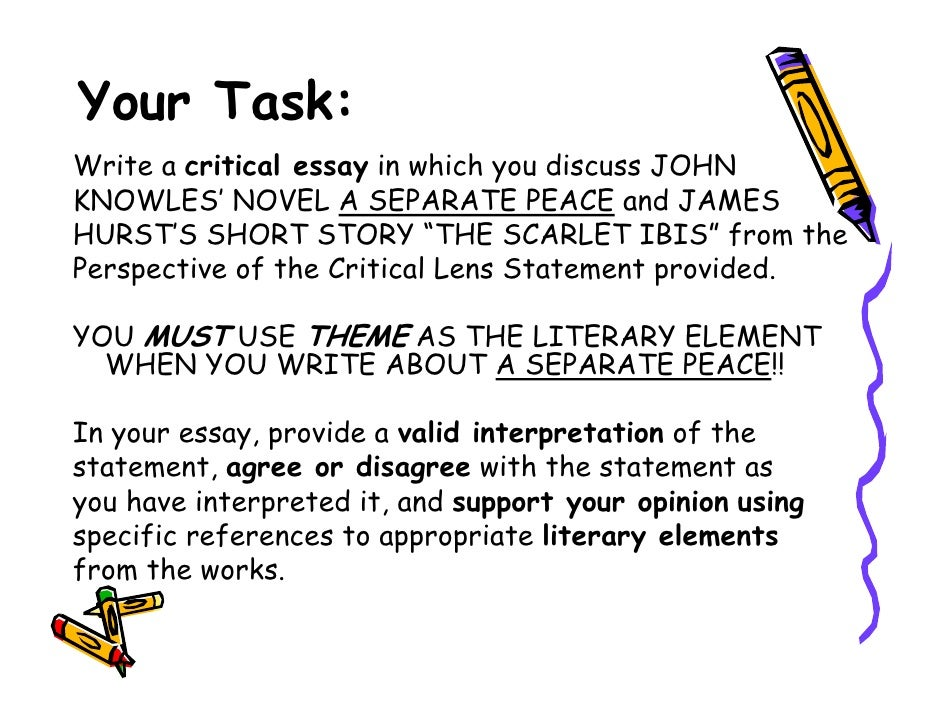 critical lens pt b  critical lens 27 your task write a critical essay