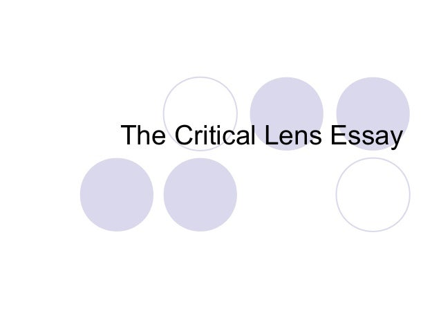 How to Write a Thesis Statement for a Critical Lens Essay