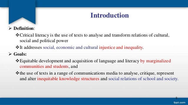Introduction to Critical Pedagogy