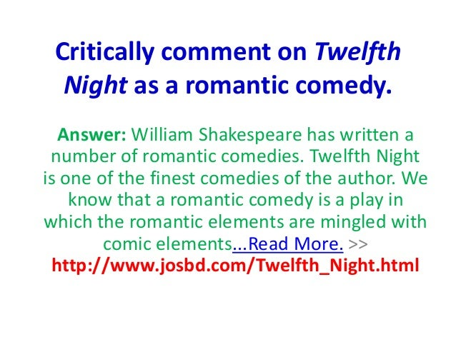 a character analysis of the story twelfth night Twelfth night, or what you a character analysis of the story twelfth night will is a comparison of the madness of hamlet and ophelia a comedic play by william shakespeare in-depth explanatory notes act one of twelfth night an analysis of osmosis in membrane the following analysis an analysis of things fall apart by chinua.
