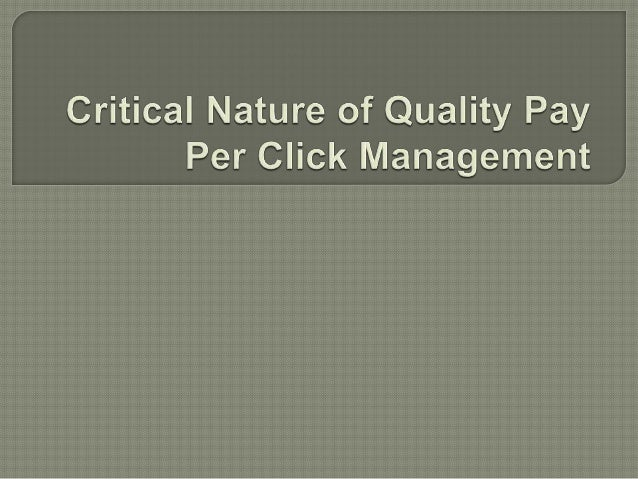 When it comes to pay per click management, it is all about looking at the overall picture when trying to get meaningful re...