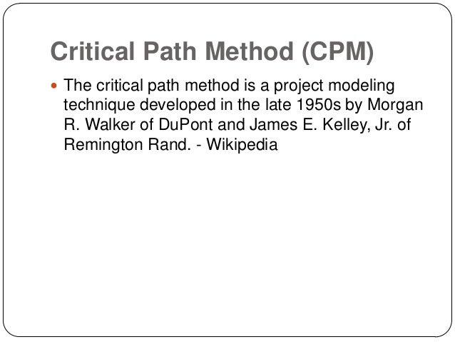 project management and critical path method Open access engineering leaders conference 2014 application of critical path method scheduling to research plan and management of graduate students' research project in engineering.