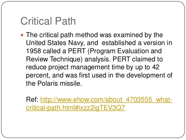 how to find critical path in project management