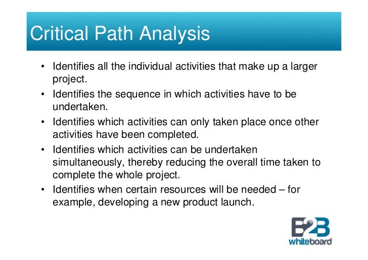 Great Critical Path Analysis Template Pictures Inspiration  Example