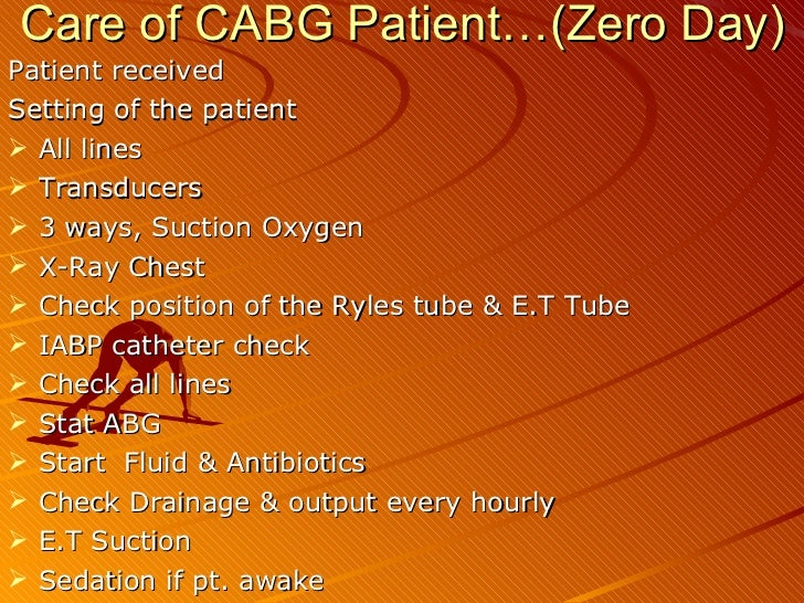 post op care for cabg pts Are intended to serve as a general statement regarding appropriate patient care practices  new onset atrial fibrillation in the  coronary artery bypass grafting.